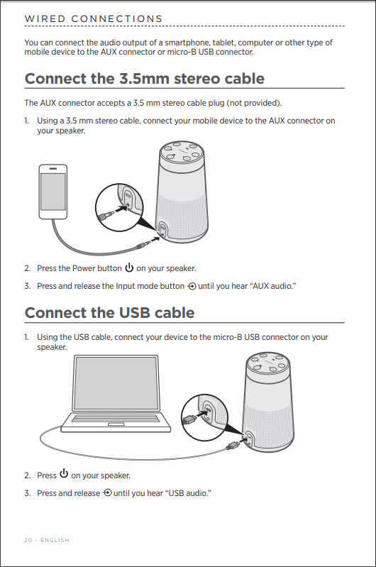 Bose REVOLVE Connect audio via USB to MAC - Bose Community