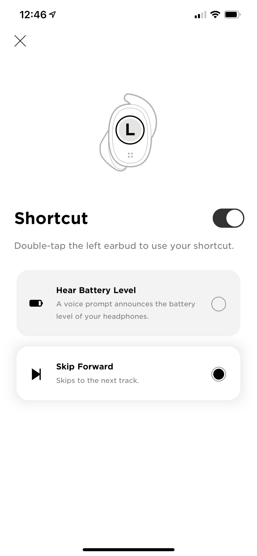 Left button shortcut options
