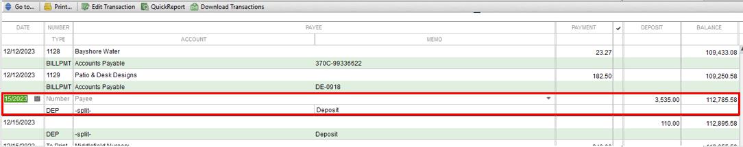 Solved: How do I delete a deposit?
