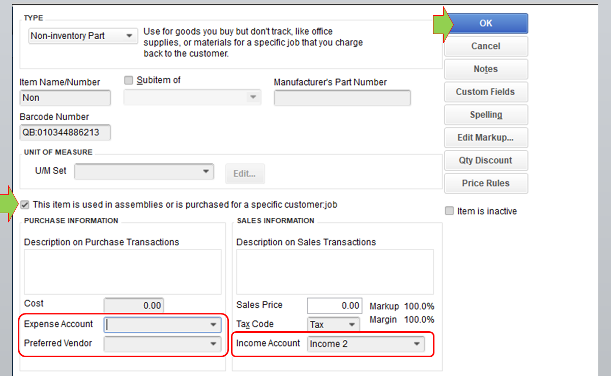 Solved: What is the proper way invoice for non inventory items and