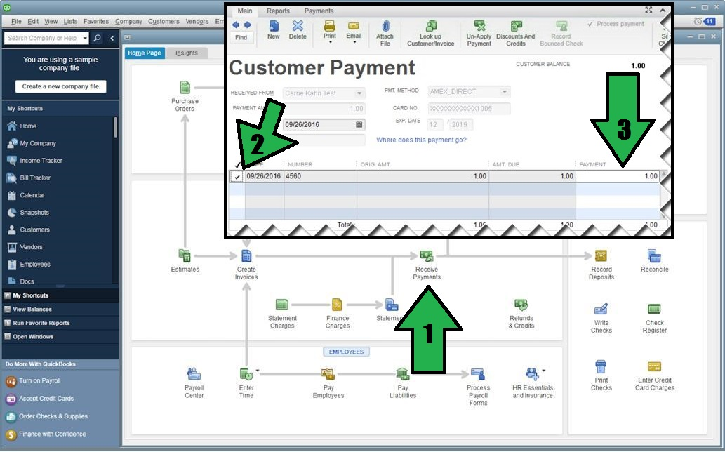 how to post partially paid invoice quickbooks community