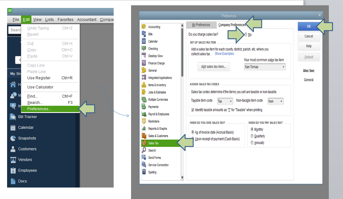Quickbooks Tax Line Mapping on