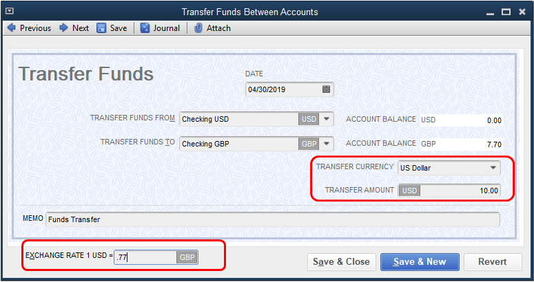 Solved: Foreign currency bank account balance - QuickBooks Community