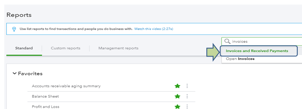 Solved: View a list of paid invoices? - QuickBooks Community