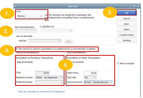 Solved: Setting up subcontractor in QuickBooks for invoici