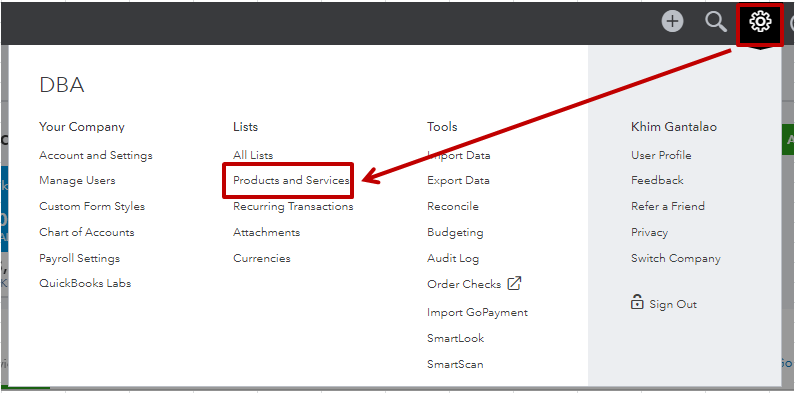 Solved: Where is the item list on quickbooks online?