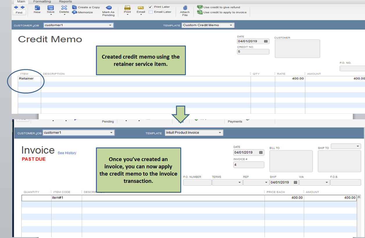 Credit Memos - Tracking both invoices AND expenses