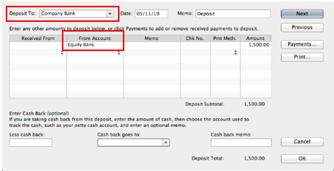 checking account and equity account - QuickBooks Community