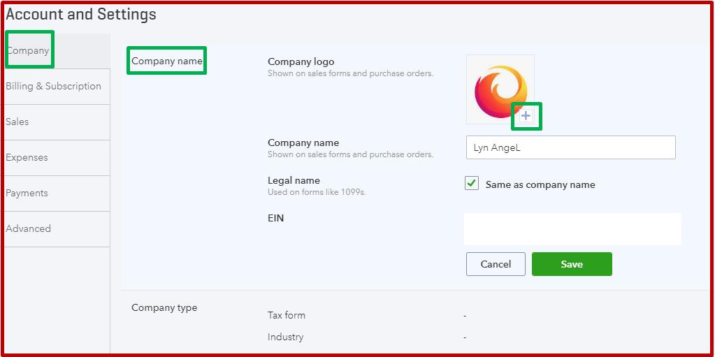 logo on form will not save logo - QuickBooks Community