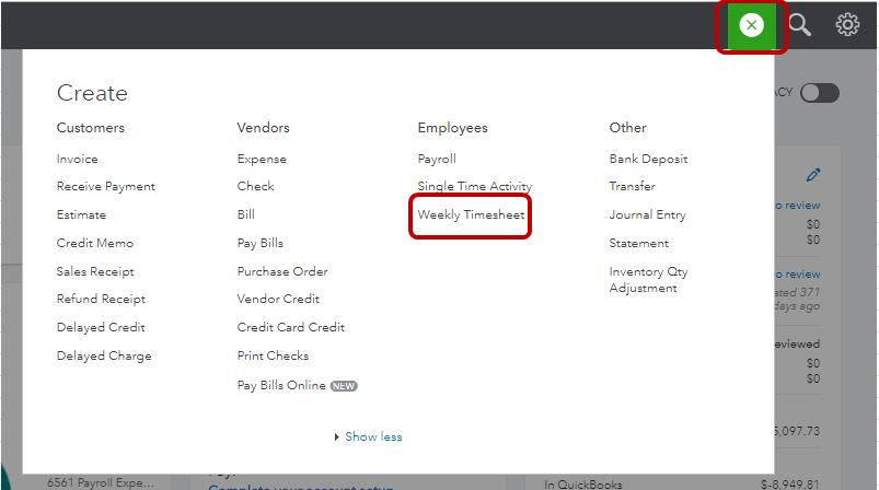 Employees enter timesheet online
