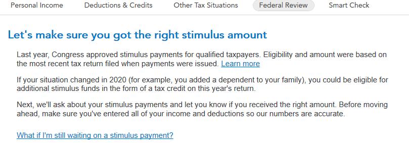 Desktop stimulus payment