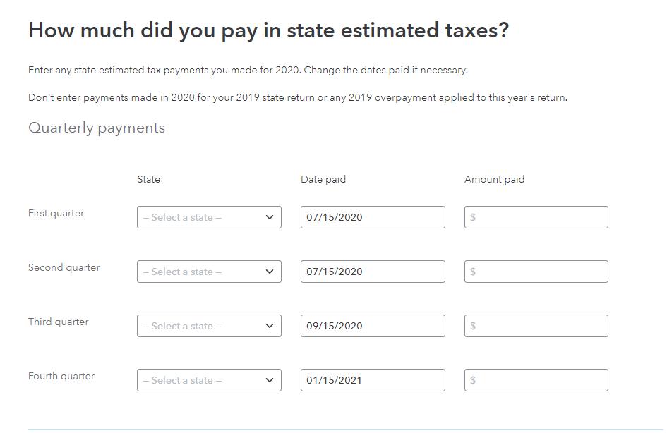 State estimates