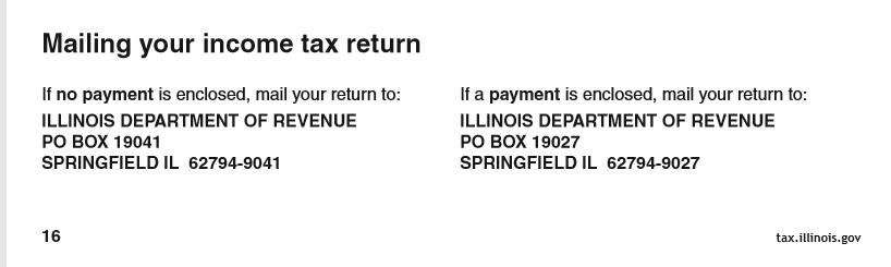 IL filing address