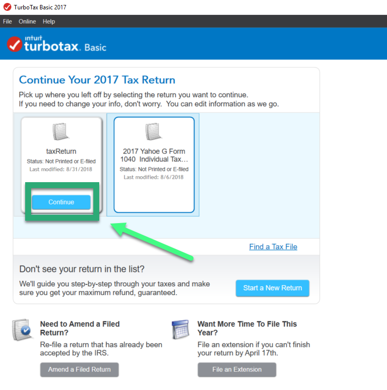 2017 Tax Forms - can't retrieve - Intuit Turbo Real Money Talk
