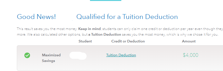 Qualified deduction