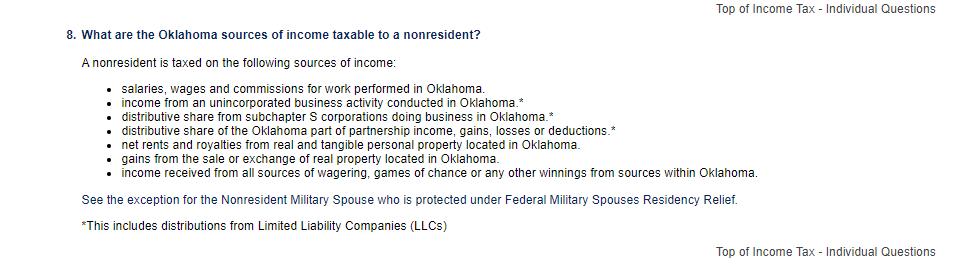 OK nonresident income
