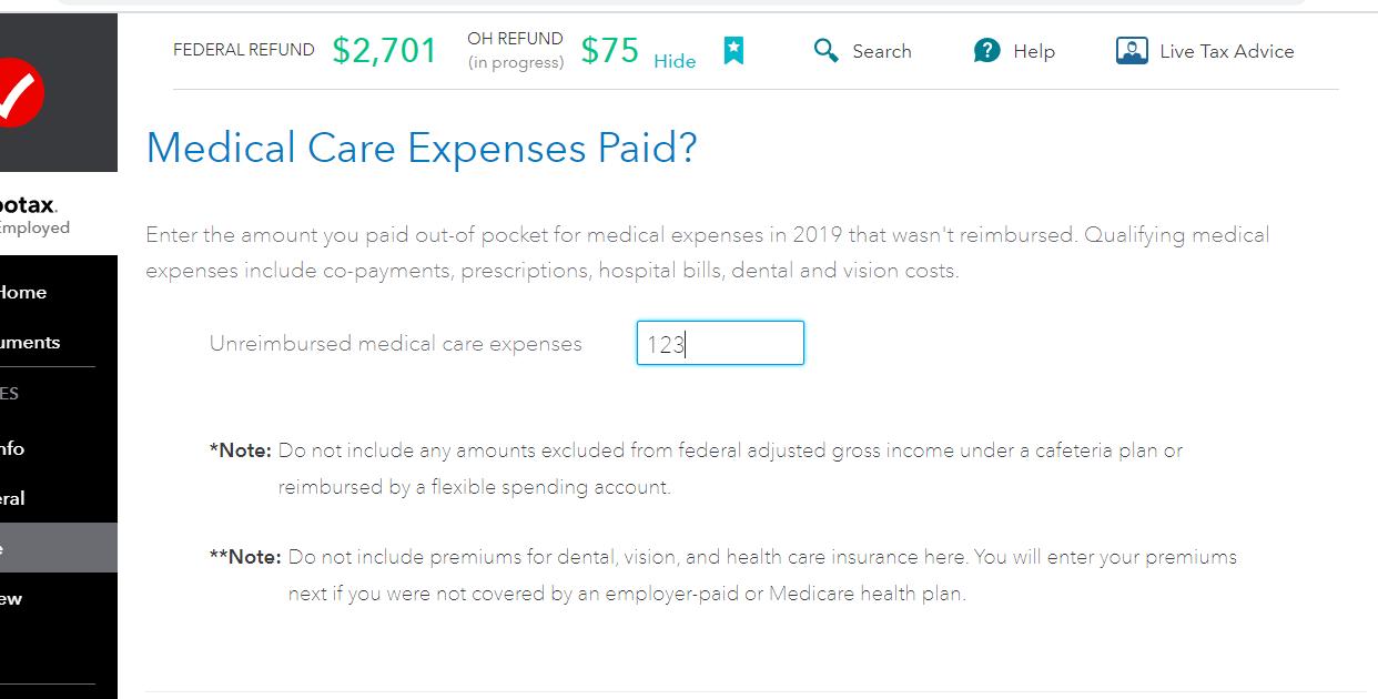 Ohio Medical Expenses Worksheet
