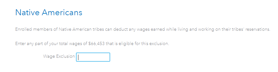 Wage exclusion amount