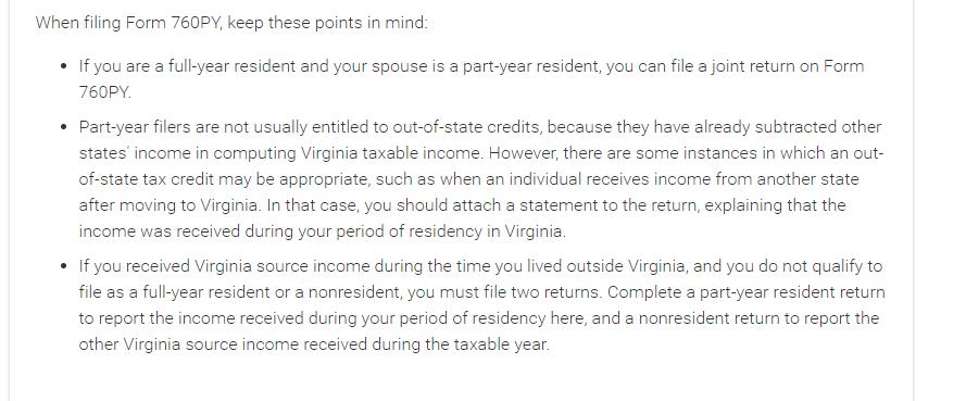 Virginia filing