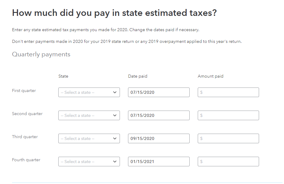 State payments