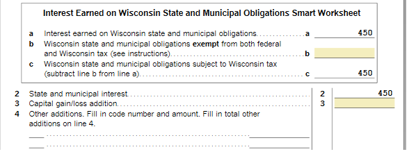 Solved: Federal tax exempt interest taxable in Wisconsin - Community