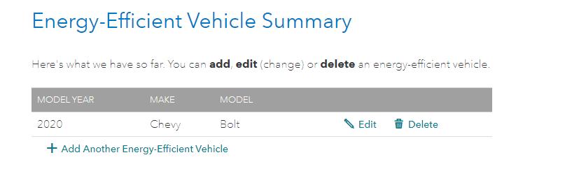 Energy efficient vehicle input