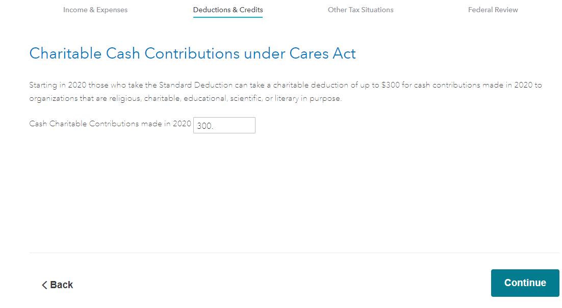 Cares contribution